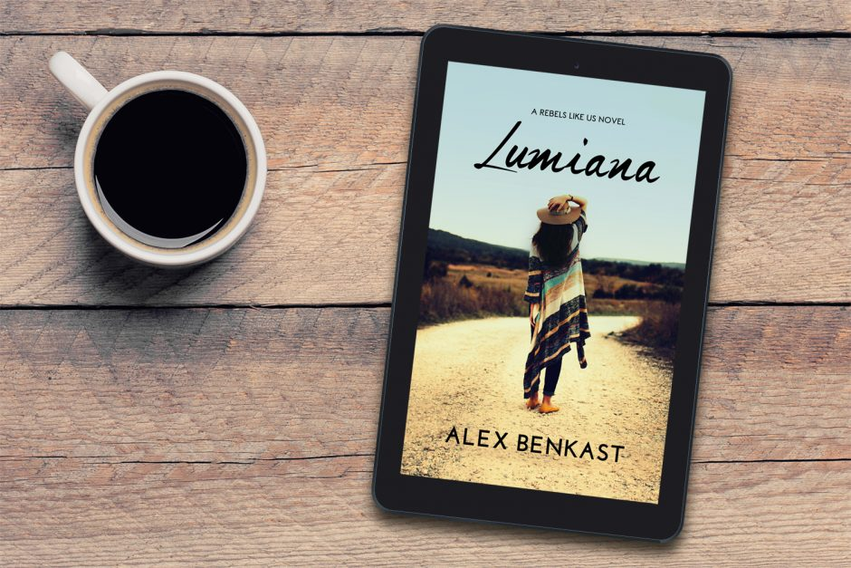 Cover of Lumiana by Alex Benkast and coffee