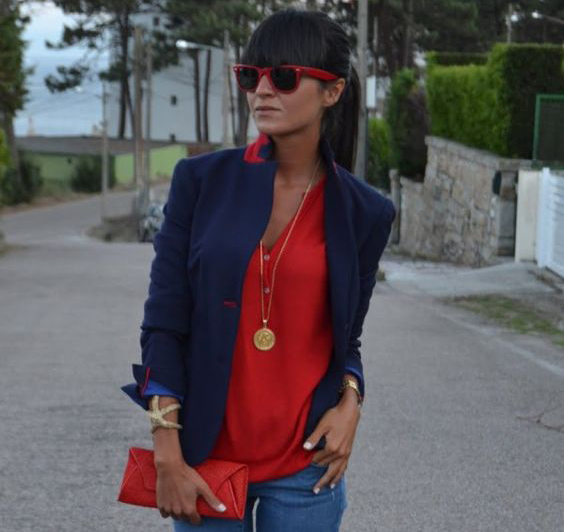 woman wearing red blouse